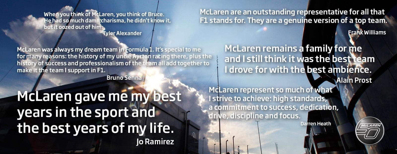 Mclaren Formula 1 F1 Stars On Mclaren S Magic 50