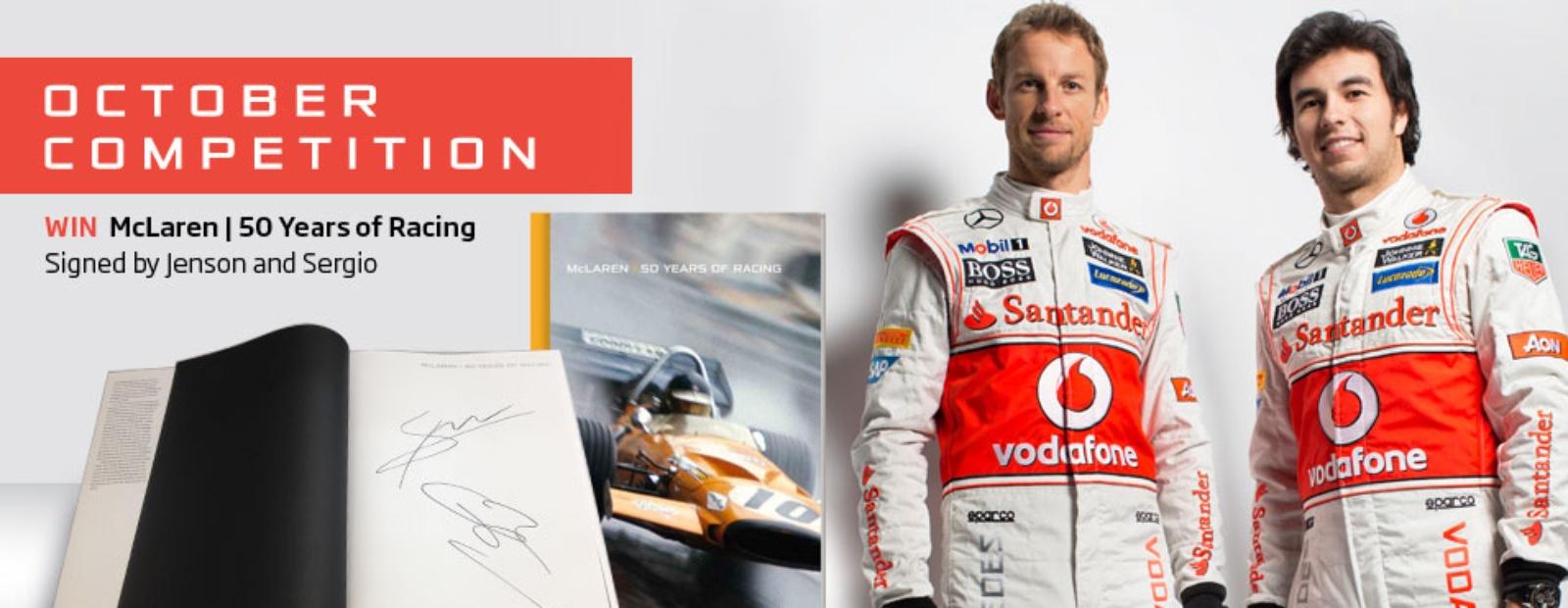mclaren formula 1 - win a signed 50 years of racing book
