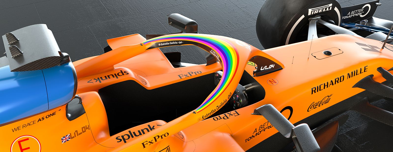McLaren Racing supports Formula 1's #WeRaceAsOne campaign
