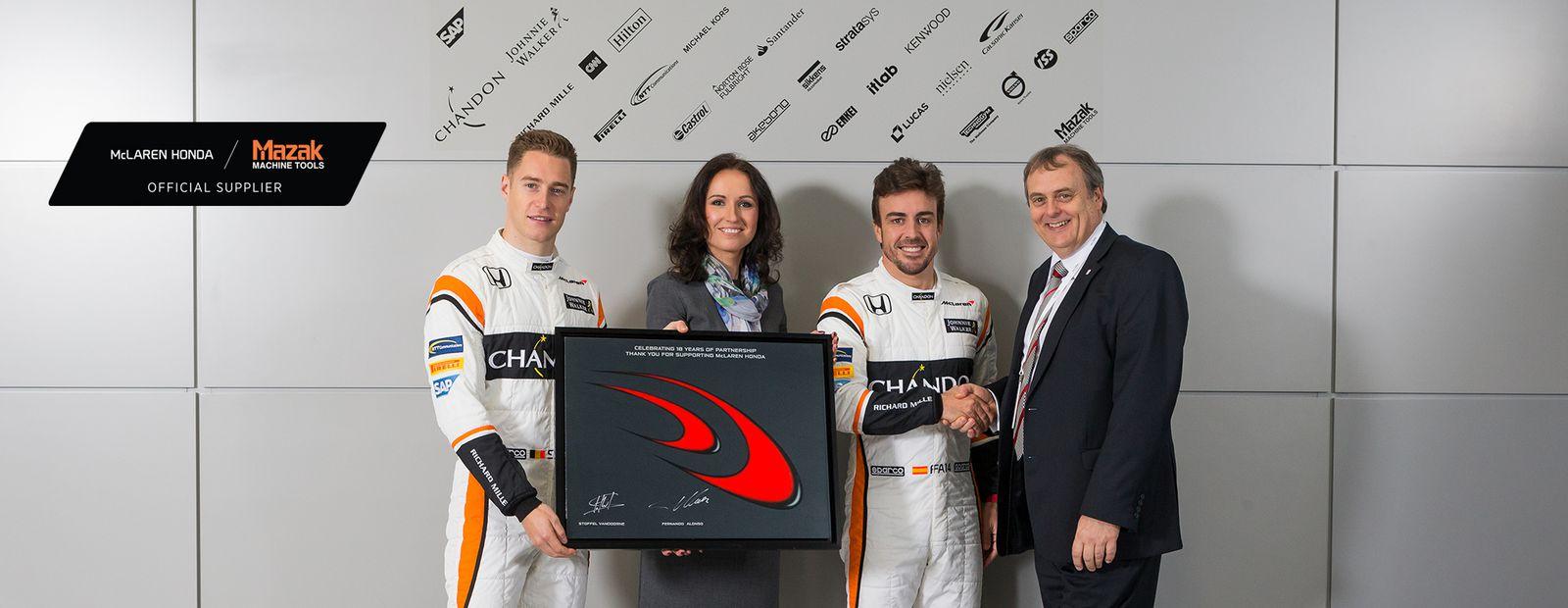 McLaren-Honda extends exclusive machine tool partnership with Mazak
