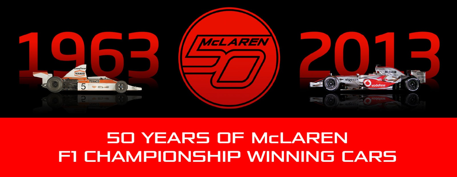 mclaren formula 1 - 50 years of mclaren f1 championship winning cars