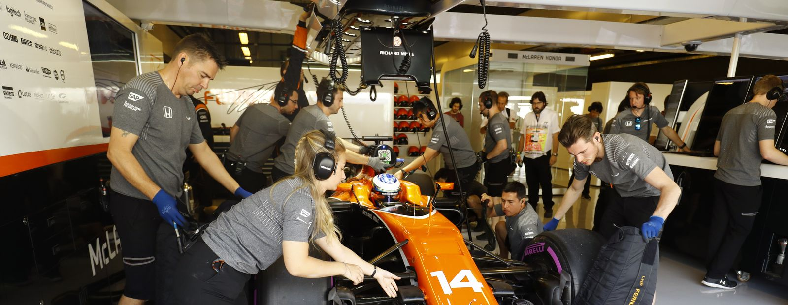 The secrets of a Formula 1 garage