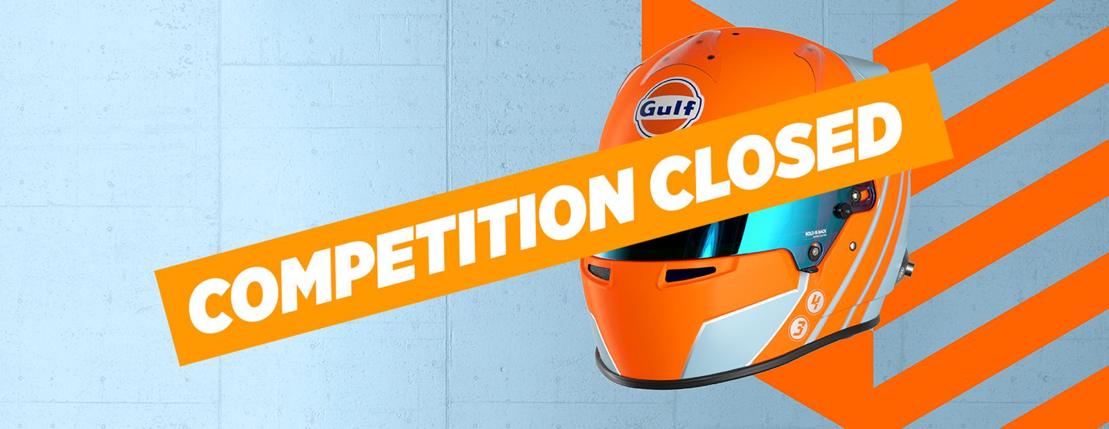 Win a signed limited edition Gulf helmet