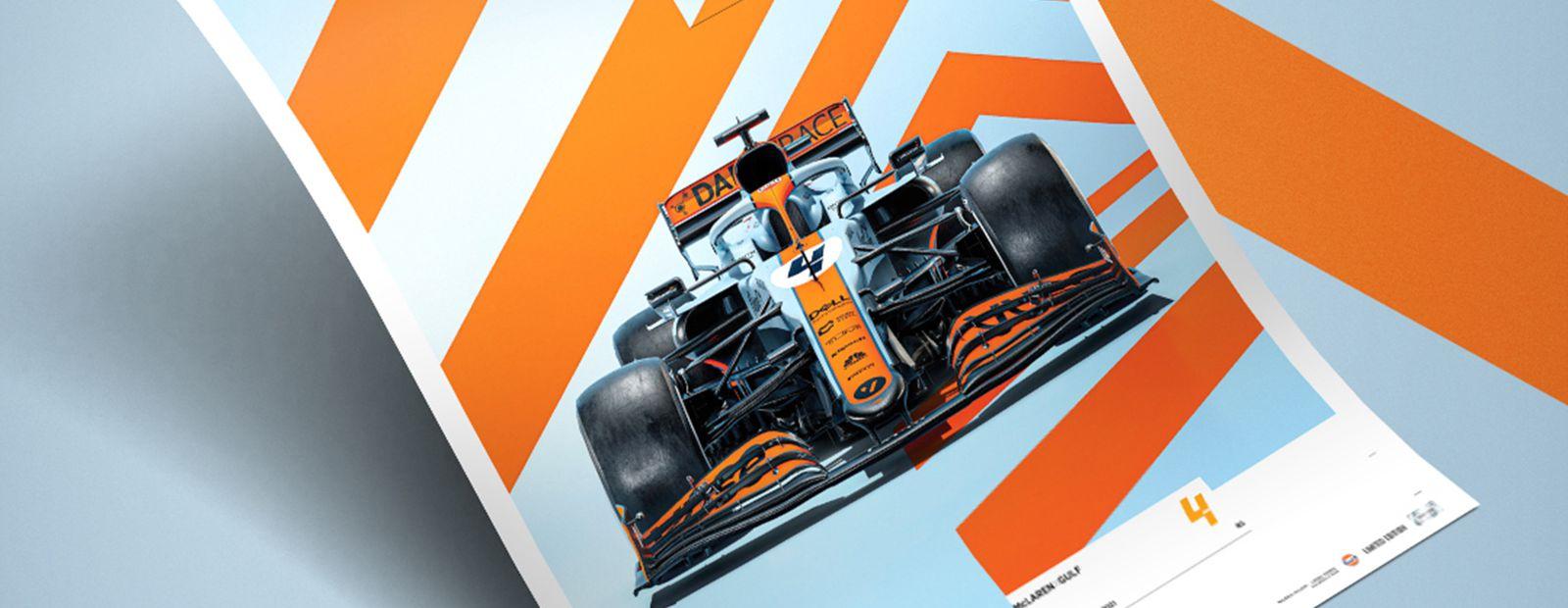 موقعة وموقعة من قبل McLaren x Bay Posters