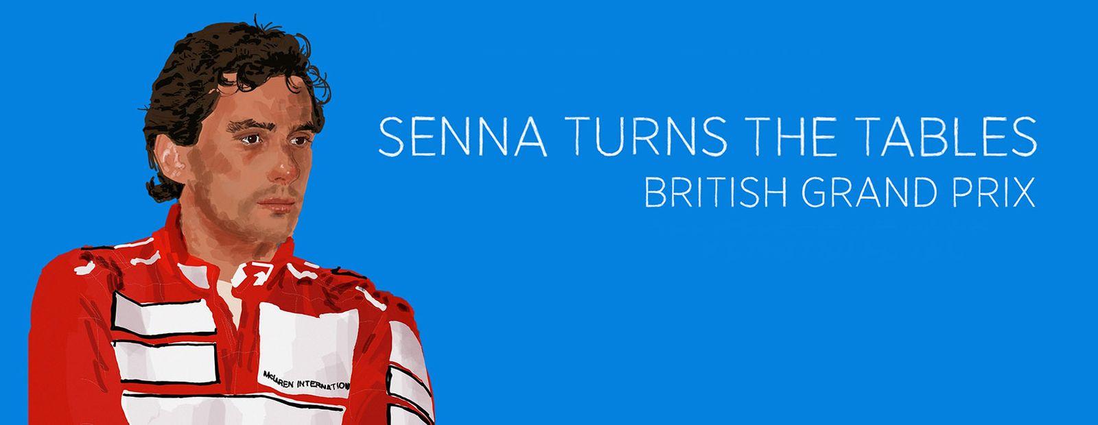 Prost sinks as Senna walks on water