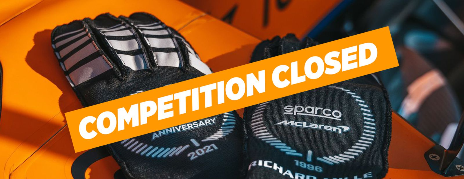 Win a pair of Sparco race gloves signed by Lando Norris