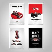 James Hunt Limited Edition Poster Set