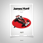 James Hunt Japan Limited Edition Poster