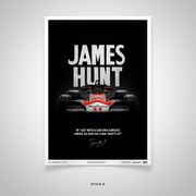 James Hunt Quote Limited Edition Poster