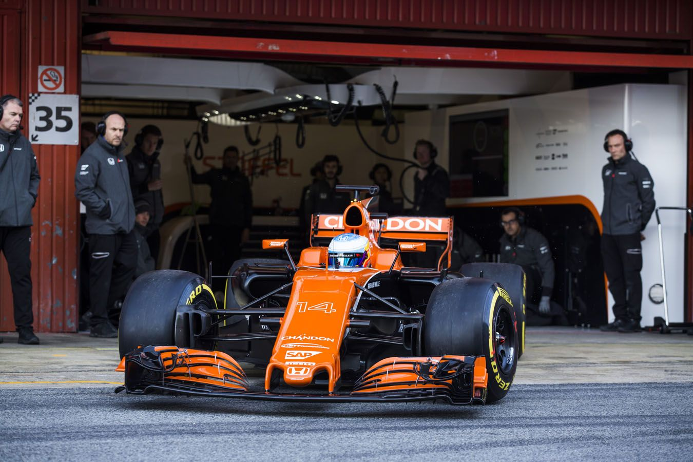 McLaren Formula 1 - Barcelona Filming Day: In Pictures