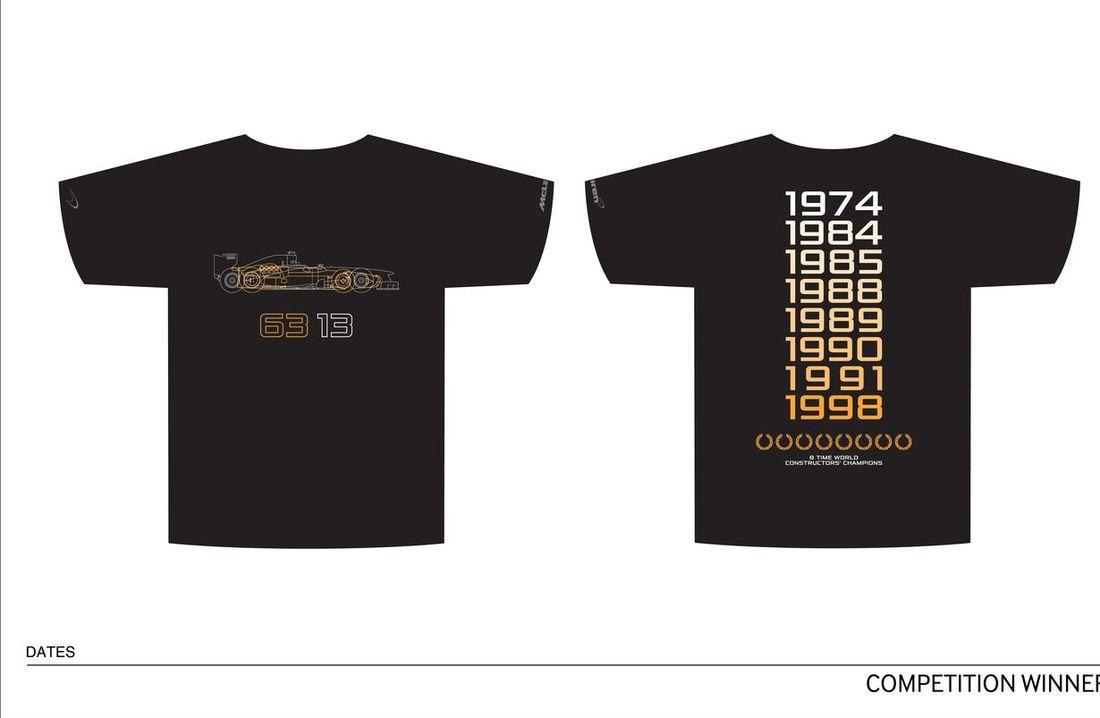Design a McLaren 50 T-Shirt male design winner